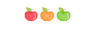 Pixel Apples by KeziahNutmeg