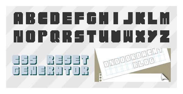 We Designer font by thomasVanDijk