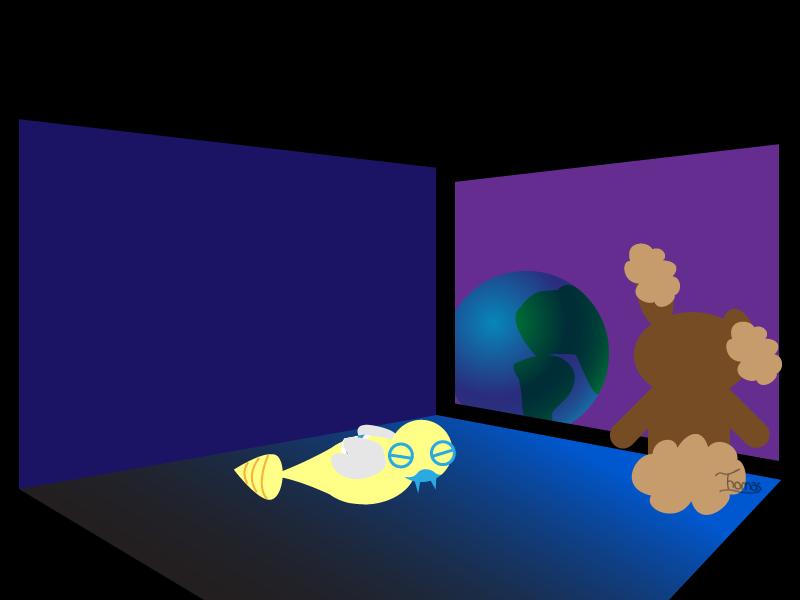 Buneary, locked inside a dark room
