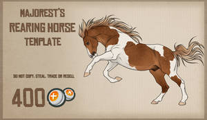 Rearing Horse   Template by Majorest