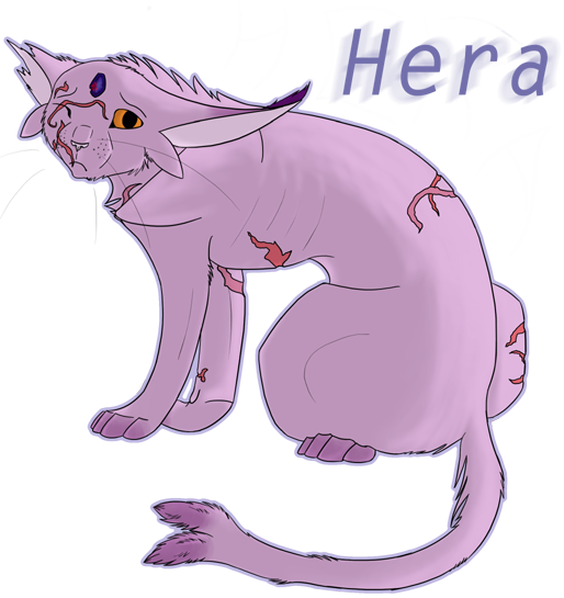 Hera the Espeon (Floater) _bruised_and_scarred__by_cianaofthearts-d4ji4vn