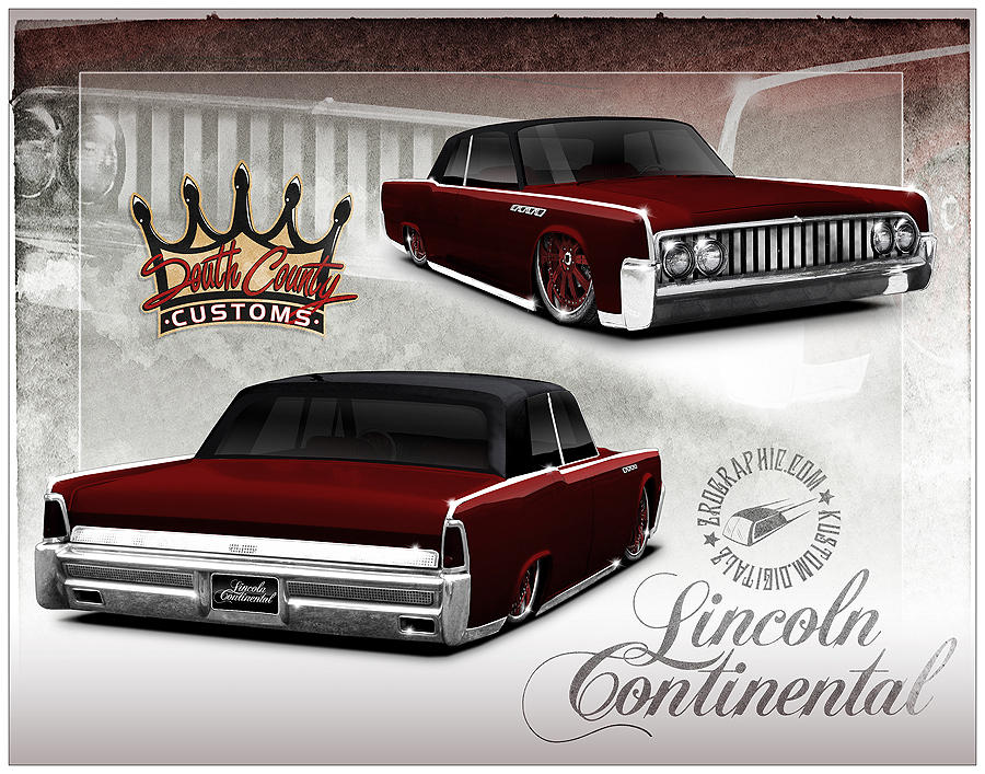 1964 lincoln continental by zerographic on deviantart. Black Bedroom Furniture Sets. Home Design Ideas