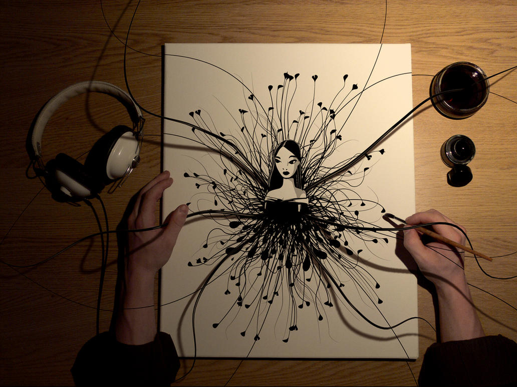 Фантастика - рисунок,девушка,дектоп,рабочий стол,обои.