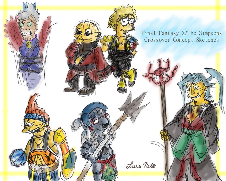The Simpsons - FFX Crossover by Spidersaiyan