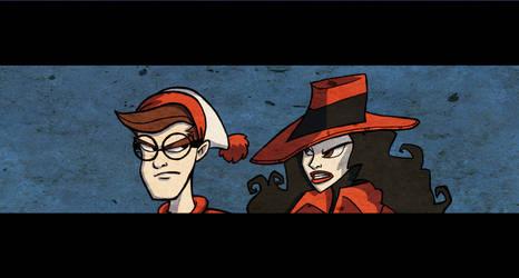 Carmen vs Waldo by Spidersaiyan
