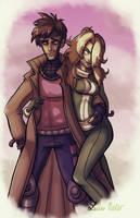 Gambit and Rogue by Spidersaiyan