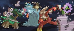 PKMN Team HeartGold vs the MissingNo by Spidersaiyan