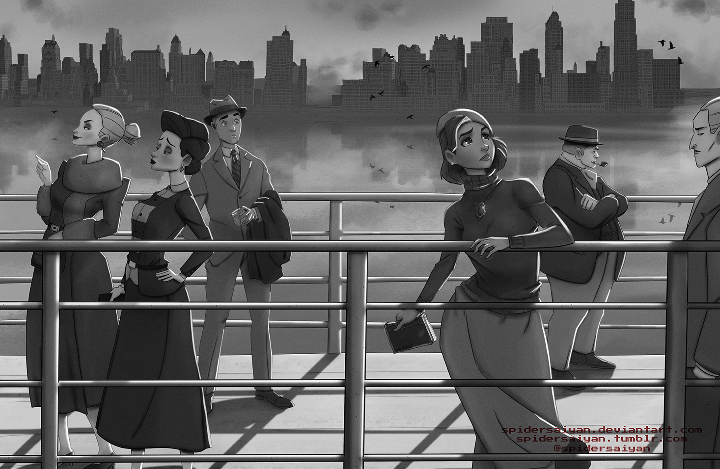 The Cruise - Film Noir version by Spidersaiyan