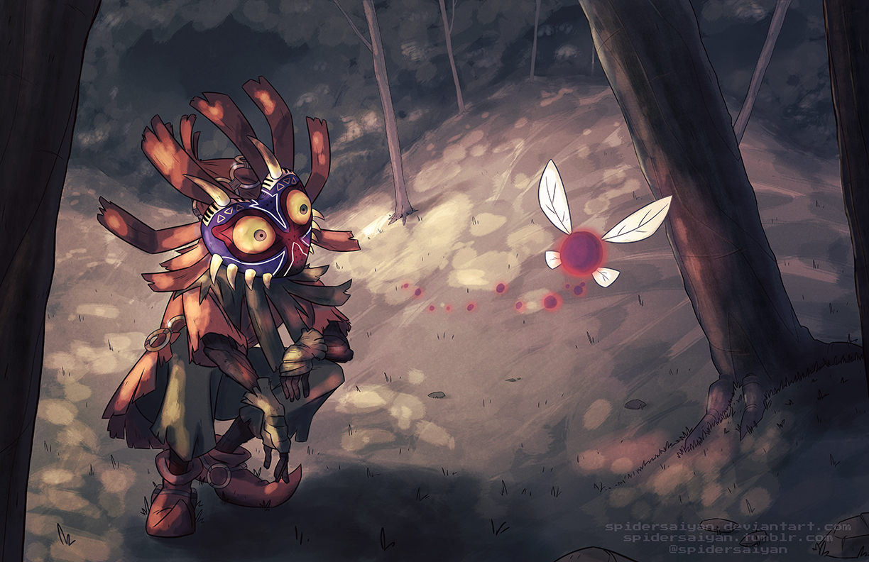 Skull Kid Wallpaper: Skull Kid By Spidersaiyan On DeviantArt