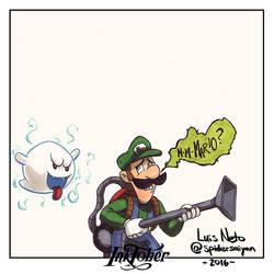 Inktober Day-06  Luigi by Spidersaiyan