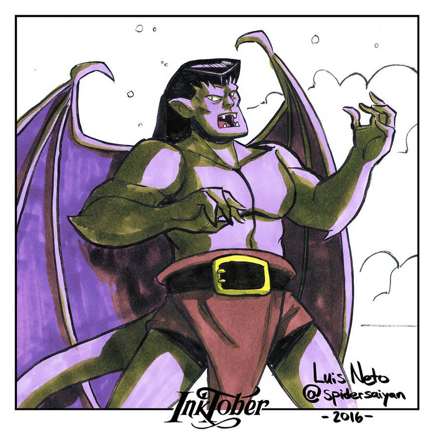 Inktober Day-19  Goliath by Spidersaiyan