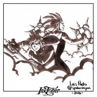 Inktober Day-26  Roxas and Axel by Spidersaiyan