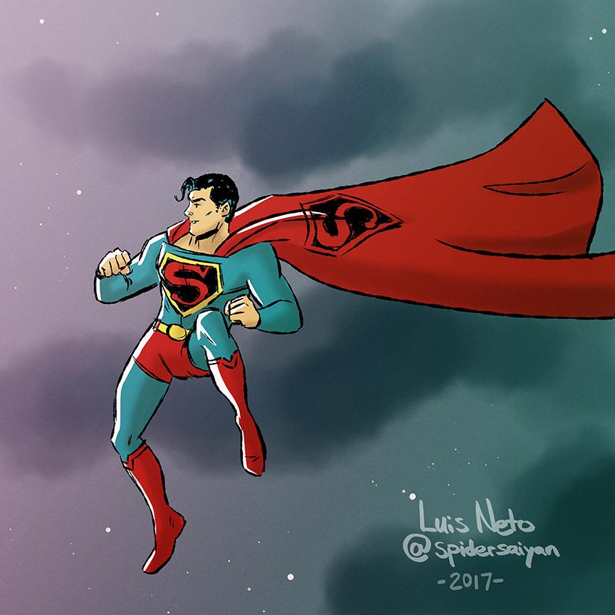 Superman Warmdown Sketch by Spidersaiyan