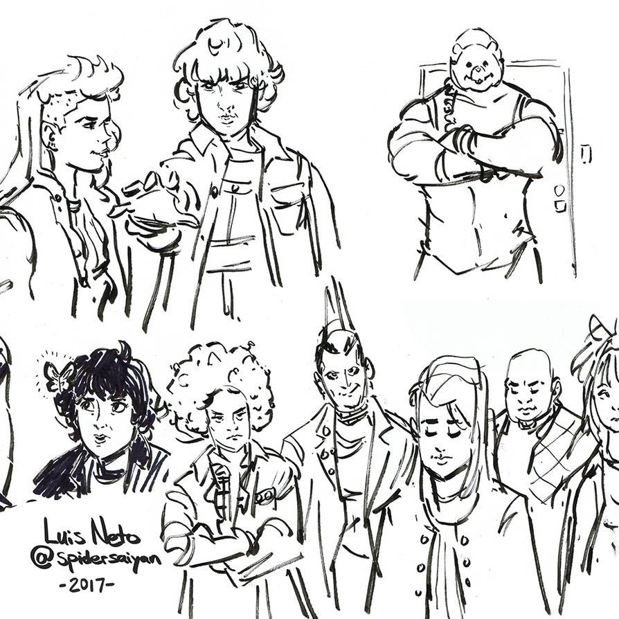 Inktober 2017 - Day-25 - Stranger Things Doodles by Spidersaiyan