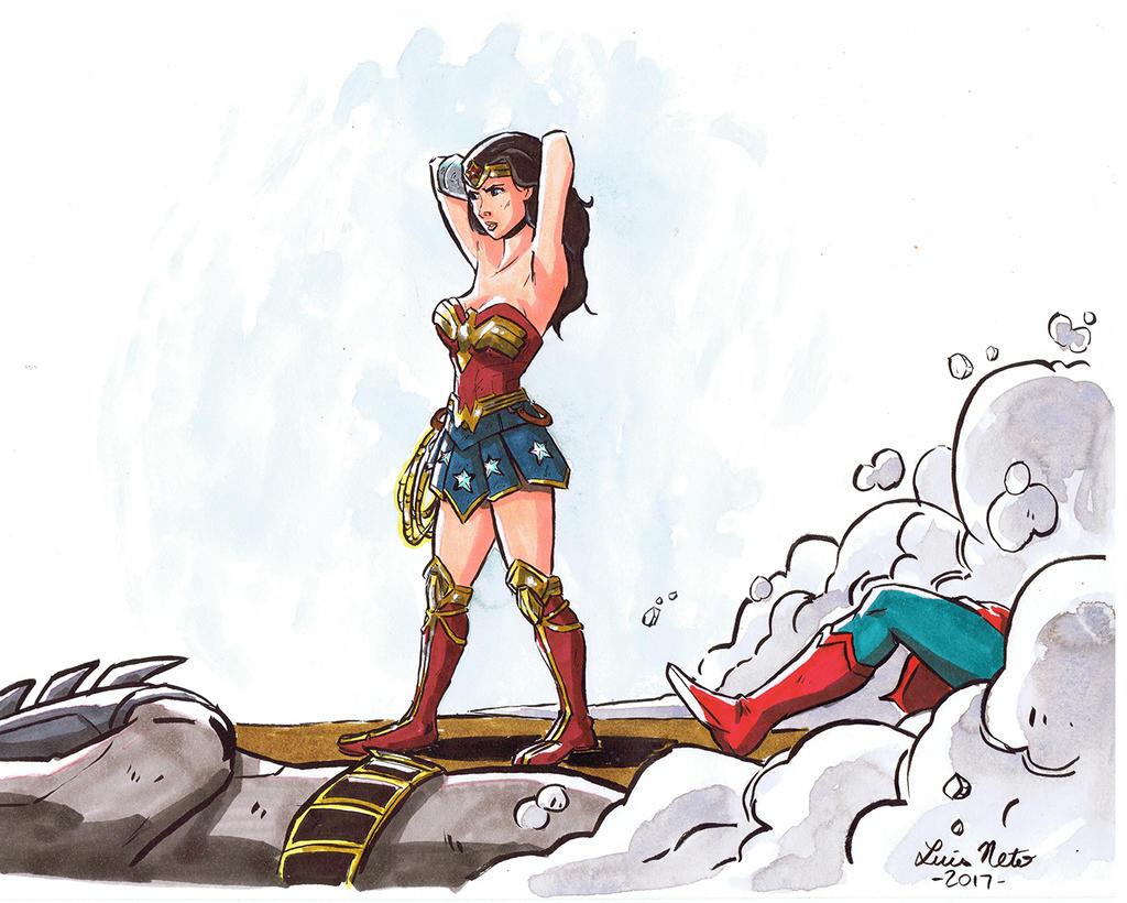 Wonder Woman B-day gift by Spidersaiyan