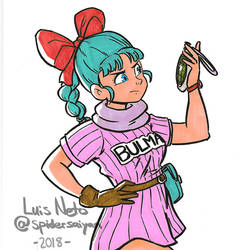 Day 13 - Inktober 2018 - Bulma by Spidersaiyan