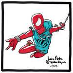 Inktober 2019 - Day 13: Scarlet Spider by Spidersaiyan