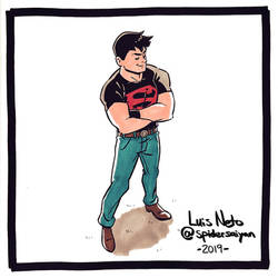 Inktober 2019 - Day 17:  Superboy
