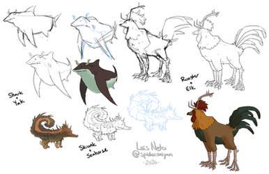 Warmup Drawings - Animal Fusions