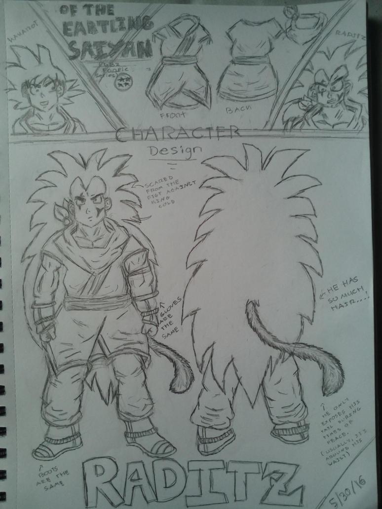 Raditz. (Character designs) by Espeon804
