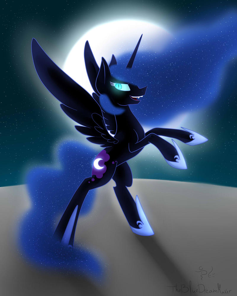 Night Mare Moon by TheBlueDreamMaker