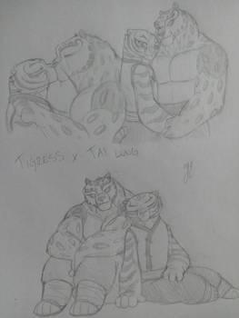 Tai Lung x Tigress