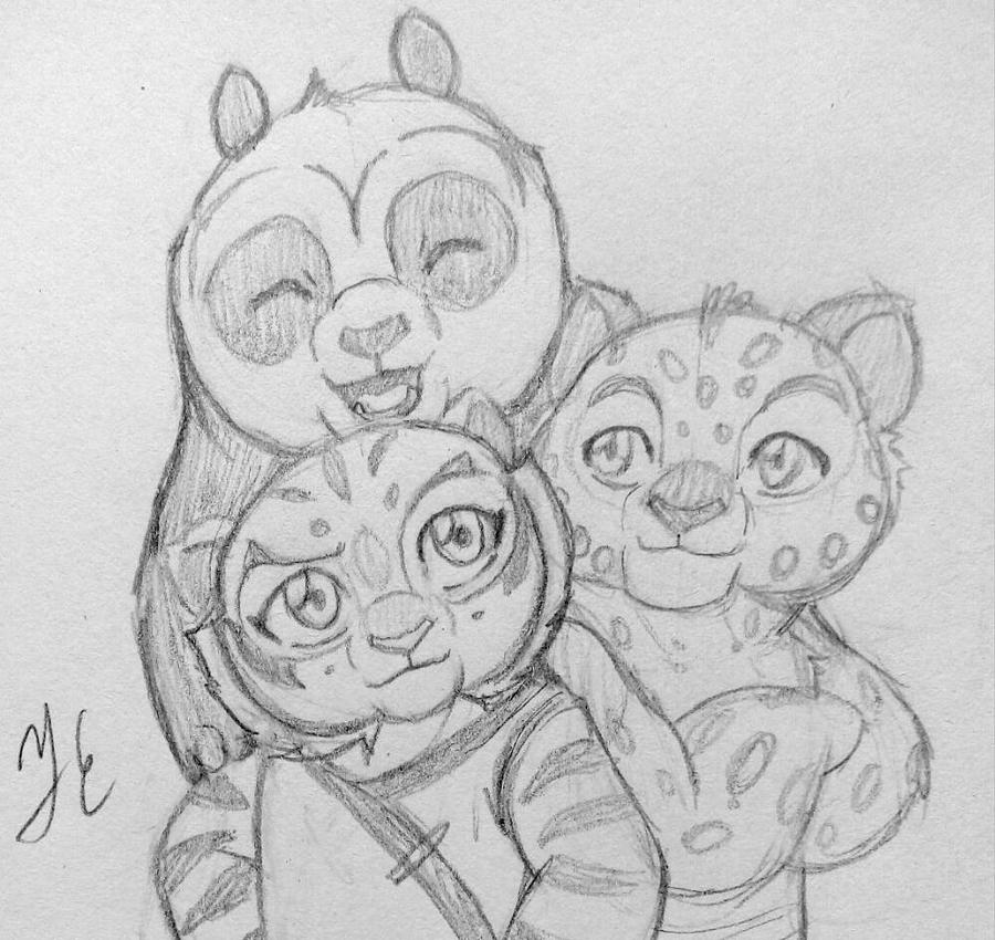 Tigress, Po and Tai Lung by AniDragmire on DeviantArt