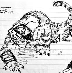random tigress by AniDragmire