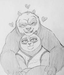 Po and Tigress Panda