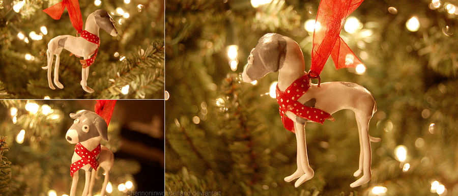 Italian Greyhound Christmas Ornament By Shannoninwonderland