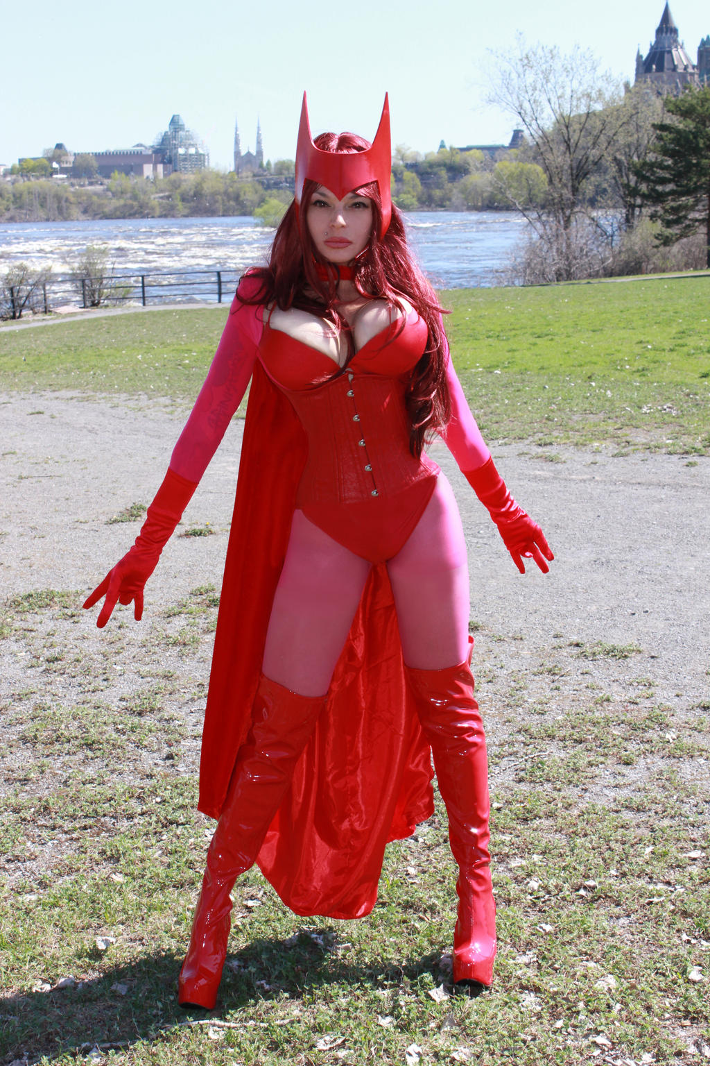 Scarlet witch naked boobs
