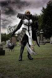 Crusader cosplay from Diablo 3