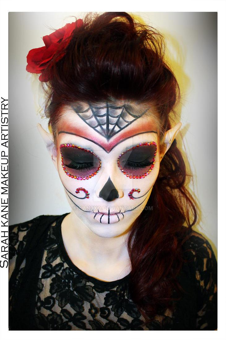 Sugar Skull Fantasy Makeup 2 by Kan3xO