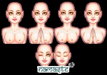 Namaste Female Portrait Bases by Kitrakaya