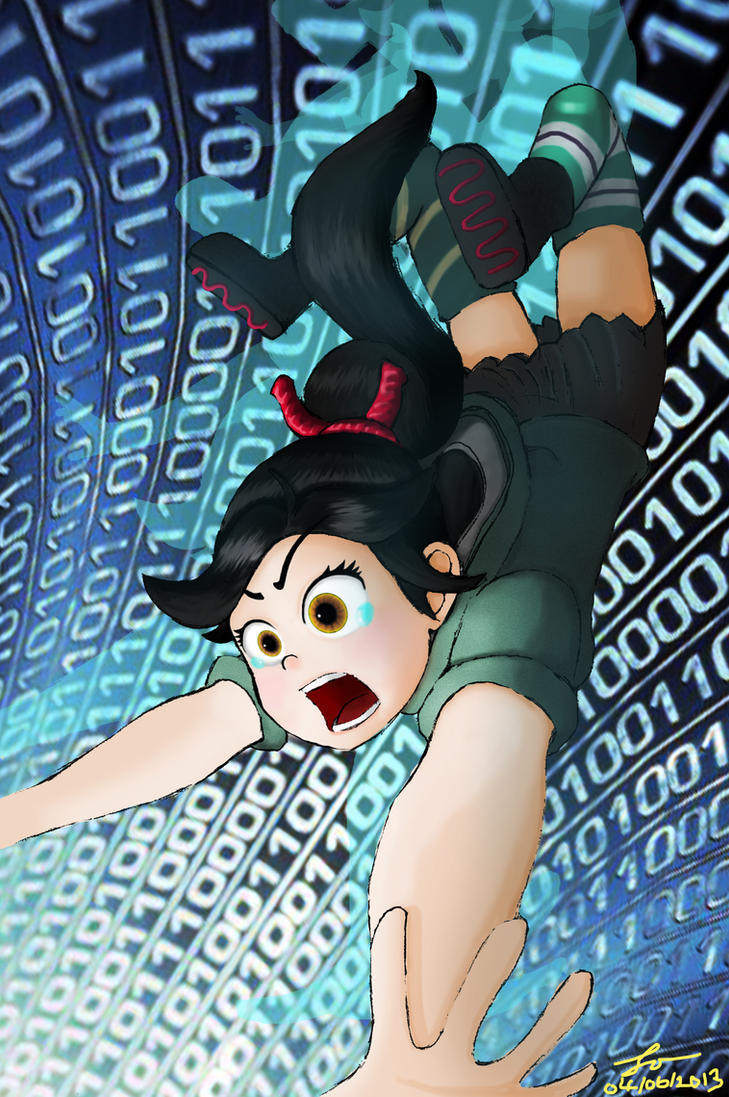 Vanellope is falling down~~ by lokinpong