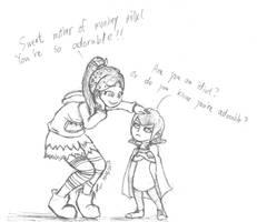 Vanellope meets Mavis by lokinpong