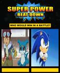 Veemon And Davis VS Sonic on super power beat down