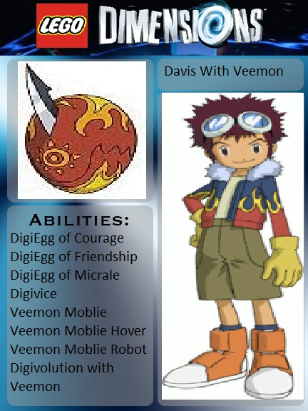 Lego Dimensions Davis With Veemon by Joetoonmania