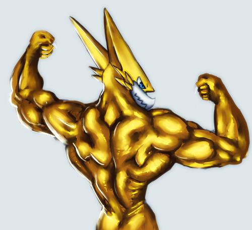 OnmiShoutmon Muscle by Joetoonmania