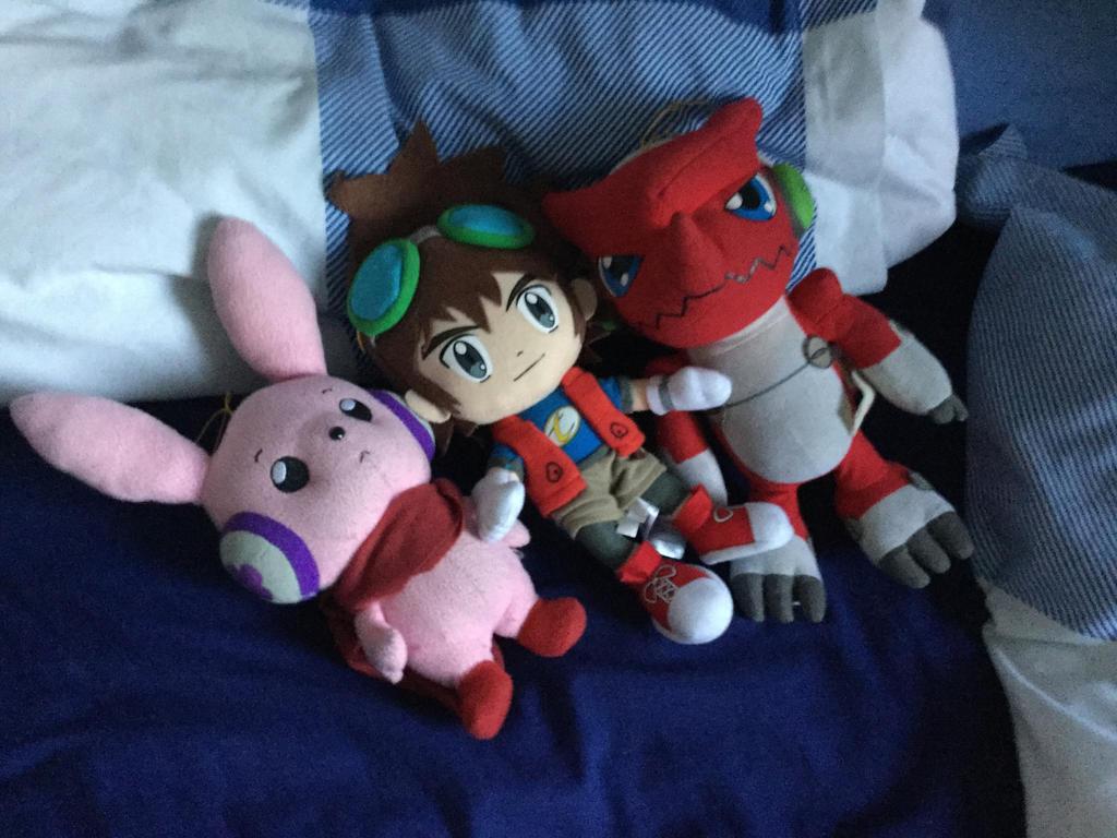 Shoutmon, Cutemon, Mikey Kudo Plush from Digimon by Joetoonmania