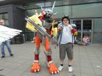 Davis Motomiya and WarGreymon by Joetoonmania
