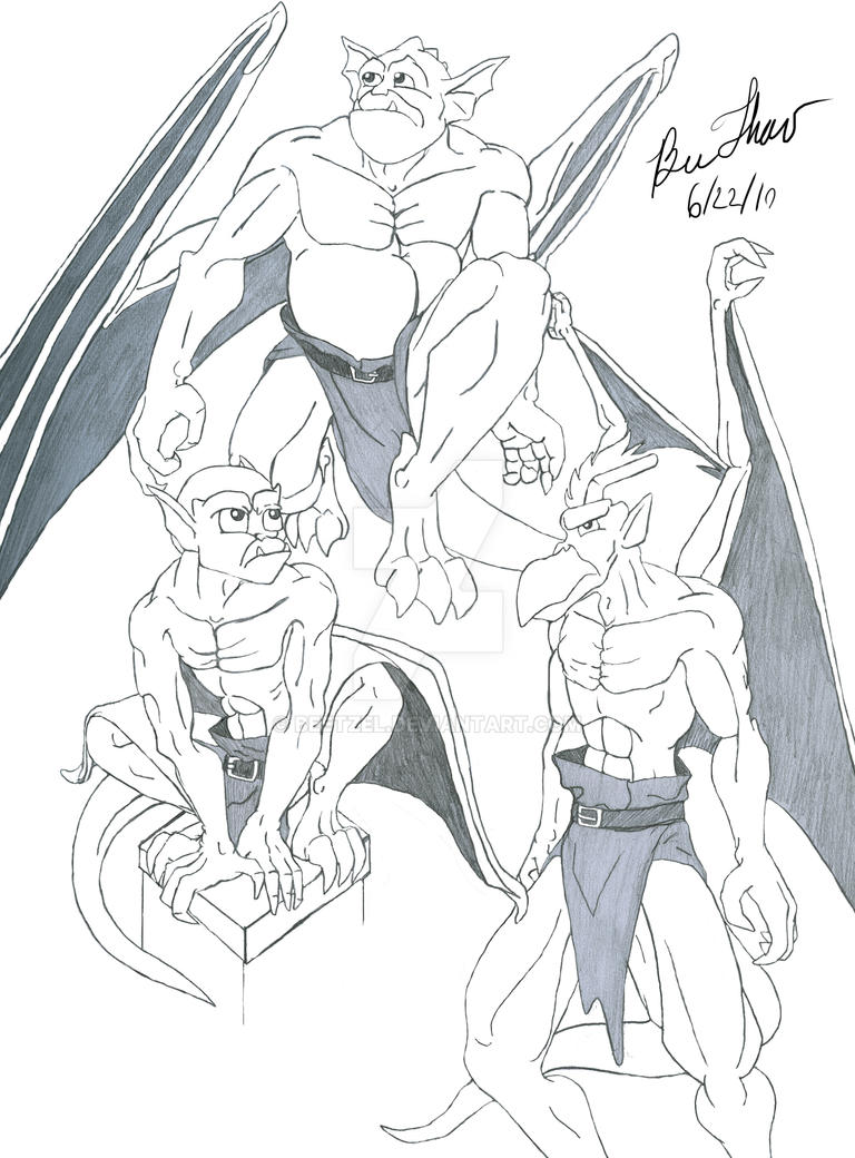 gargoyles characters coloring pages - photo#3