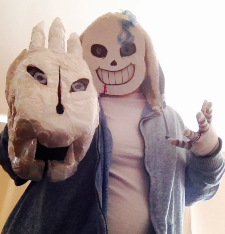 Sans and Gaster Blaster (Cosplay) by Cutl3Pl3