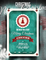 Christmas Flyer/Poster - Retro Vol. 3 by elisamaggit