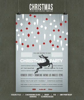 Christmas Flyer/Poster Retro Vol.4