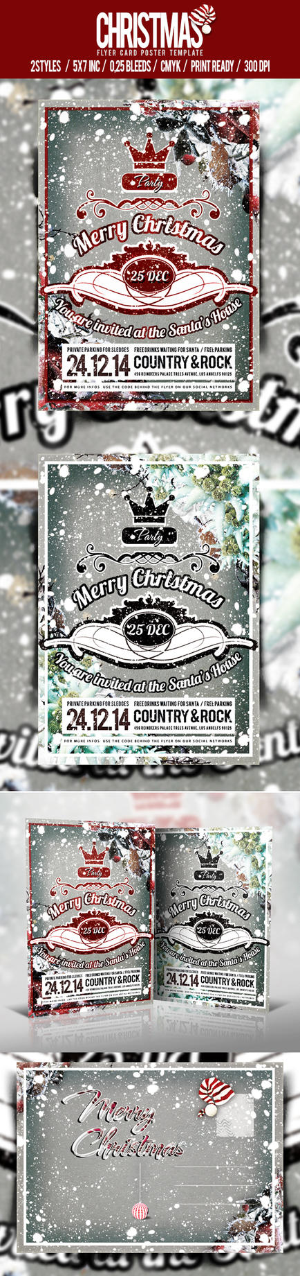 Christmas Flyer/Poster Vol.3 by elisamaggit