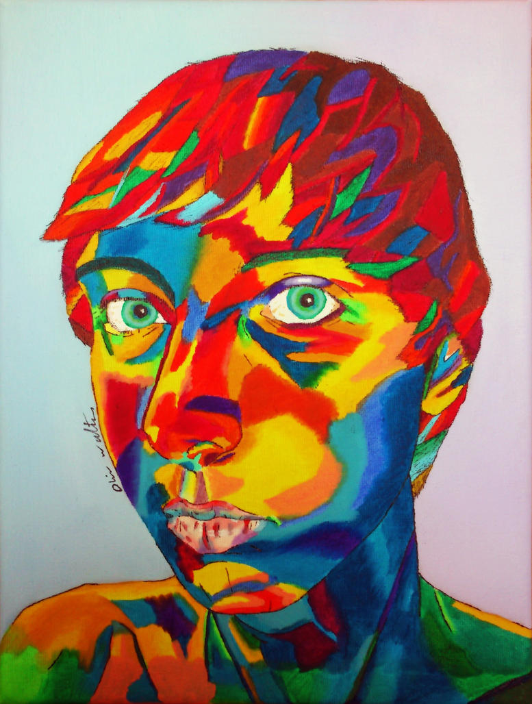fauvist_Fauvist Self Portrait by Digital-Goth on DeviantArt