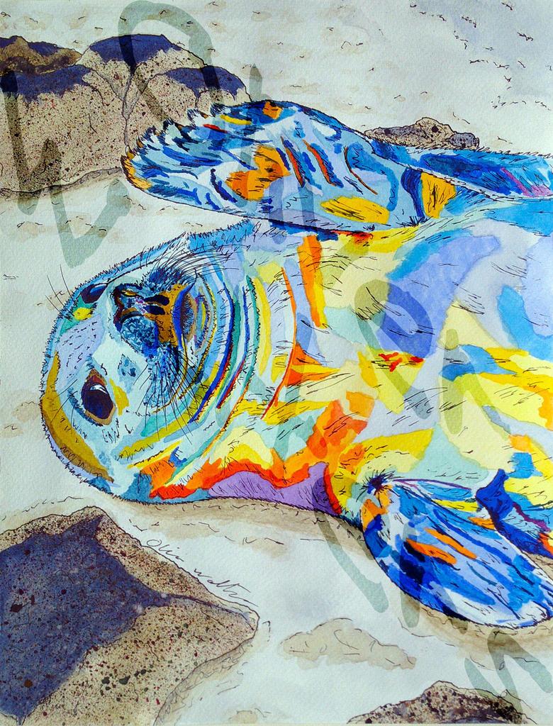Relax Like A Seal by Digital-Goth