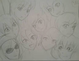 Quick sketch of the rwby girls