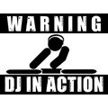 Dj In Action Sign by Kargroth